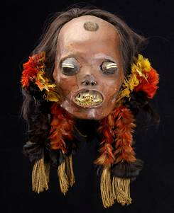 A head of a Mundurucú enemy that has been ritually preserved