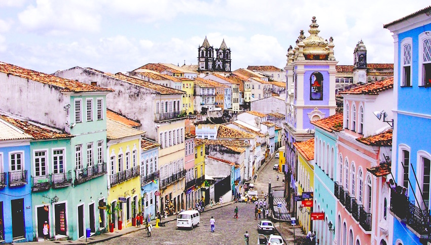 The old colonial heritage of Salvador, Brazil