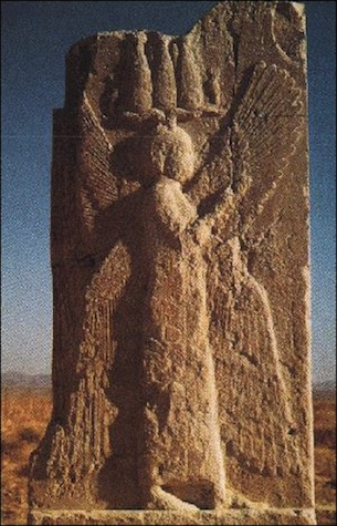 Many believe this to be an image of Cyrus the Great, found in his ancient capital city of Pasargadae