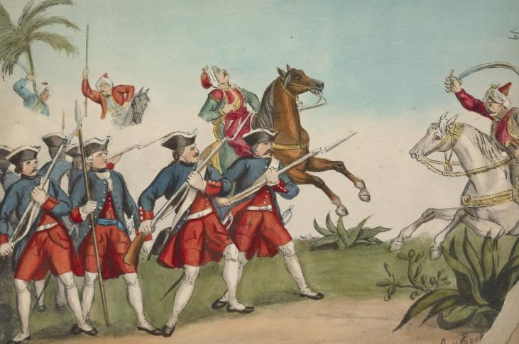 Austrian soldiers facing off against the Ottomans