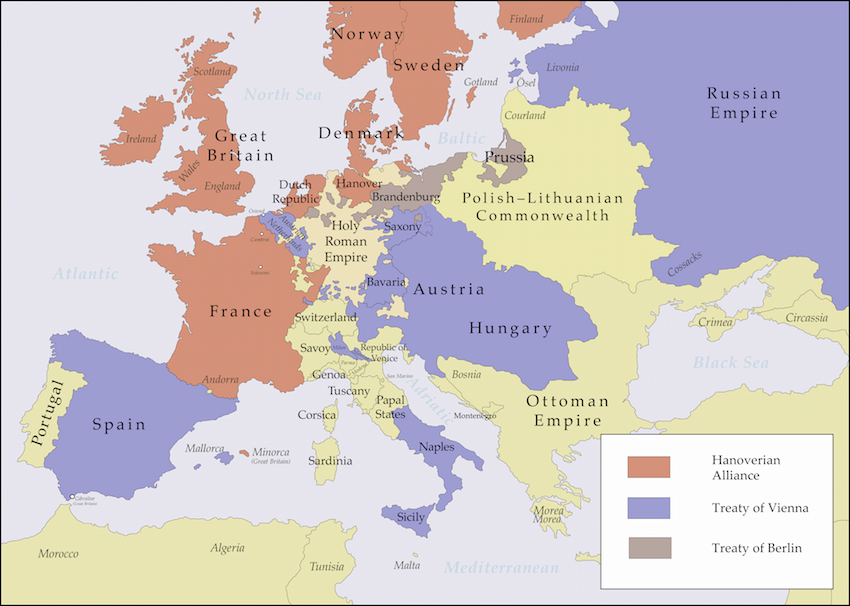European alliances, 1725-1730