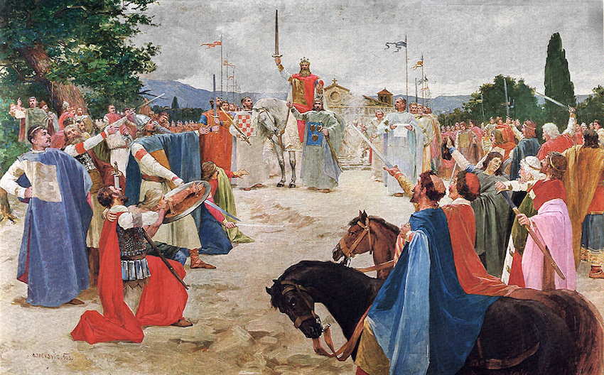 The first Croatian King, Tomislav
