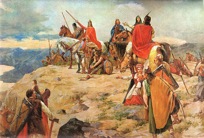 Arrival of the Croat tribes into the Balkans