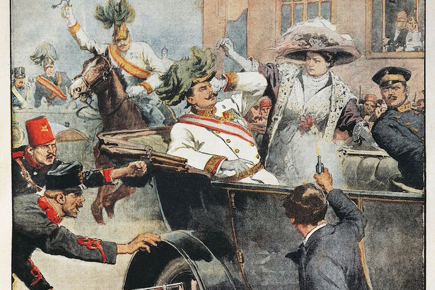 Painting depicting the assassination of Archduke Franz Ferdinand