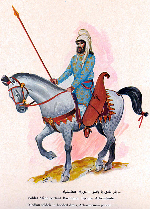 Imperial Achaemenian Median Hooded Cavalryman