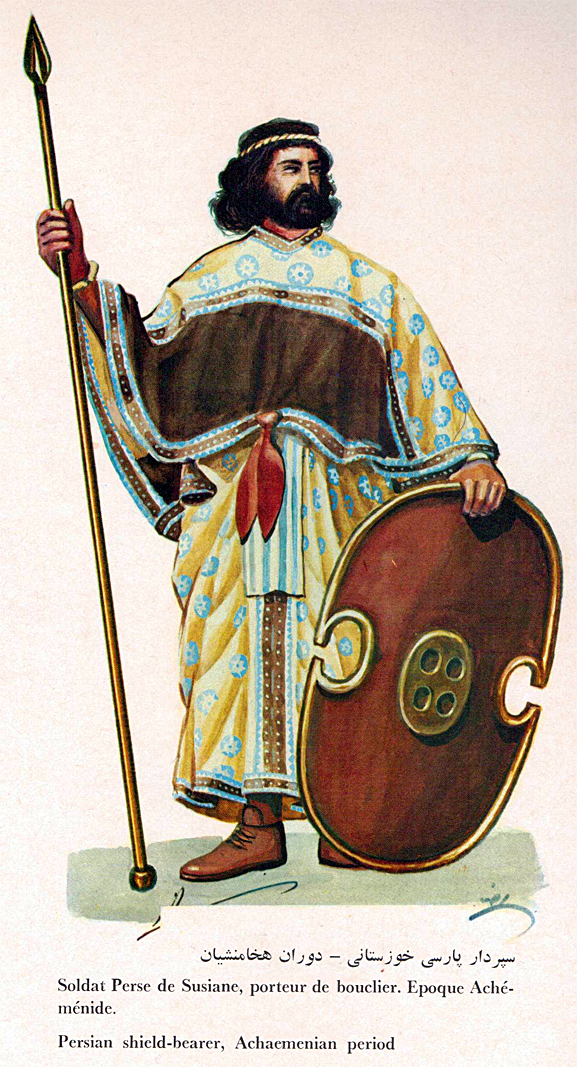 Imperial Achaemenian Susian Shield Bearer Soldier