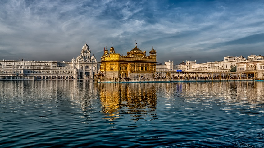 Amritsar with the Harmandir Sahib in the foreground.