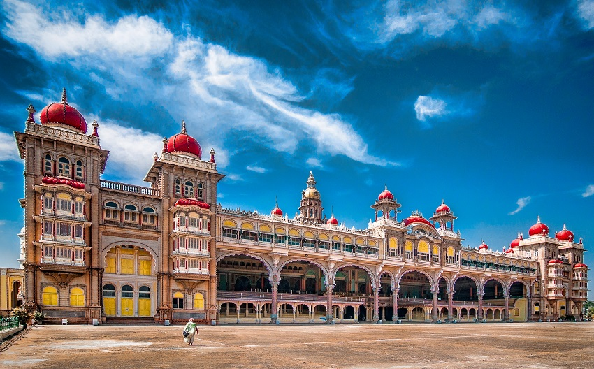 The great palace in Mysore, India